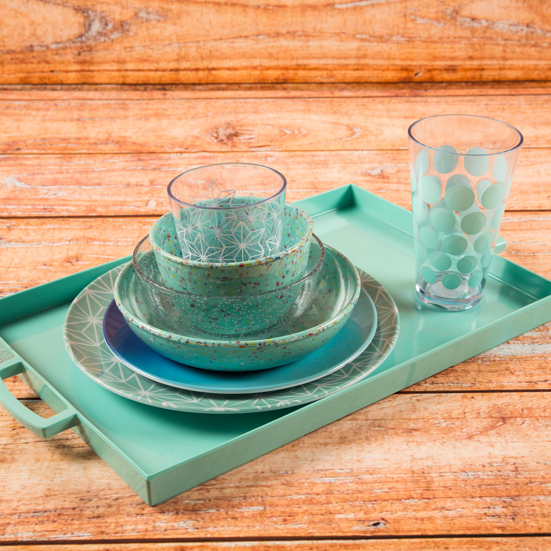 Confetti 24 ounce Soup Bowl, Mint, 6-piece set slideshow image 4