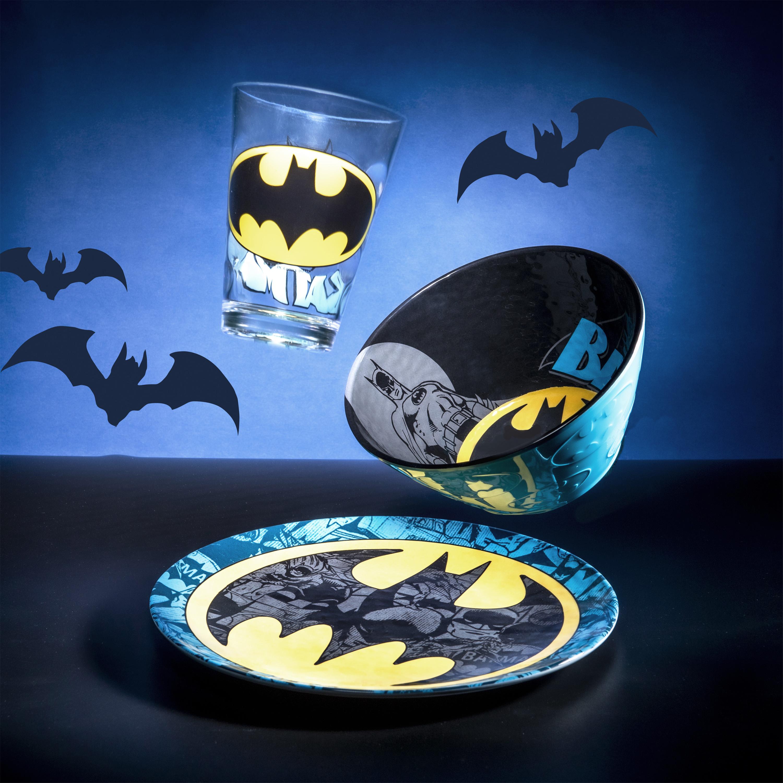 DC Comics Plate, Bowl and Tumbler Set, Batman, 3-piece set slideshow image 4