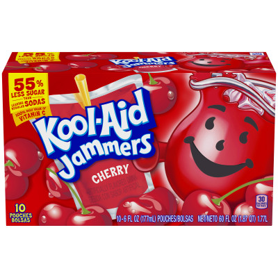 Kool-Aid Jammers Cherry Ready-to-Drink Soft Drink 10 - 6 fl oz Packets