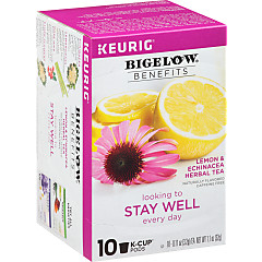 Benefits Lemon and Echinacea Herbal Tea K-Cups - Case of 6 boxes- total of 60 k-cups