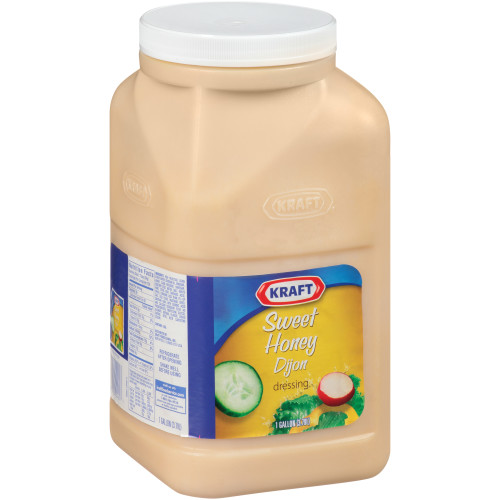 KRAFT Sweet Honey Dijon Dressing, 1 gal. Jugs (Pack of 4)