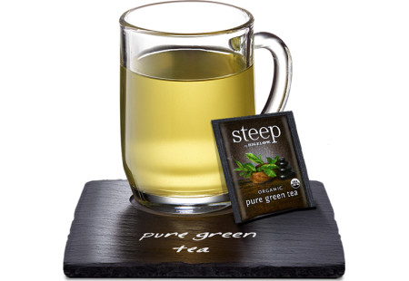 Cup of steep by bigelow organic pure green tea