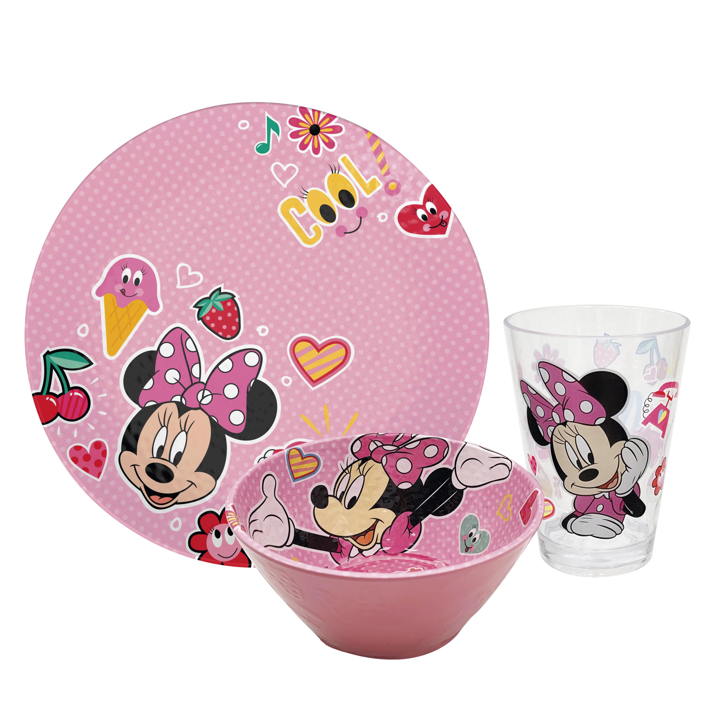 Disney Plate, Bowl and Tumbler Set, Minnie Mouse, 3-piece set slideshow image 1