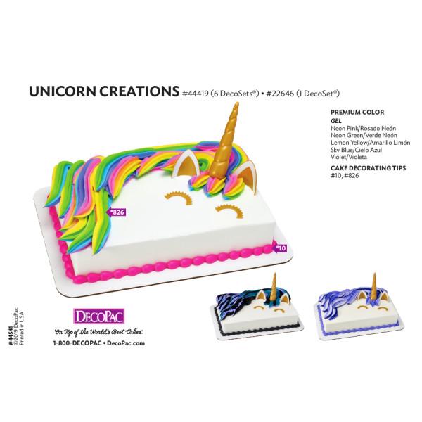 Unicorn Creations 1/4 Sheet Cake Decorating Instruction Card