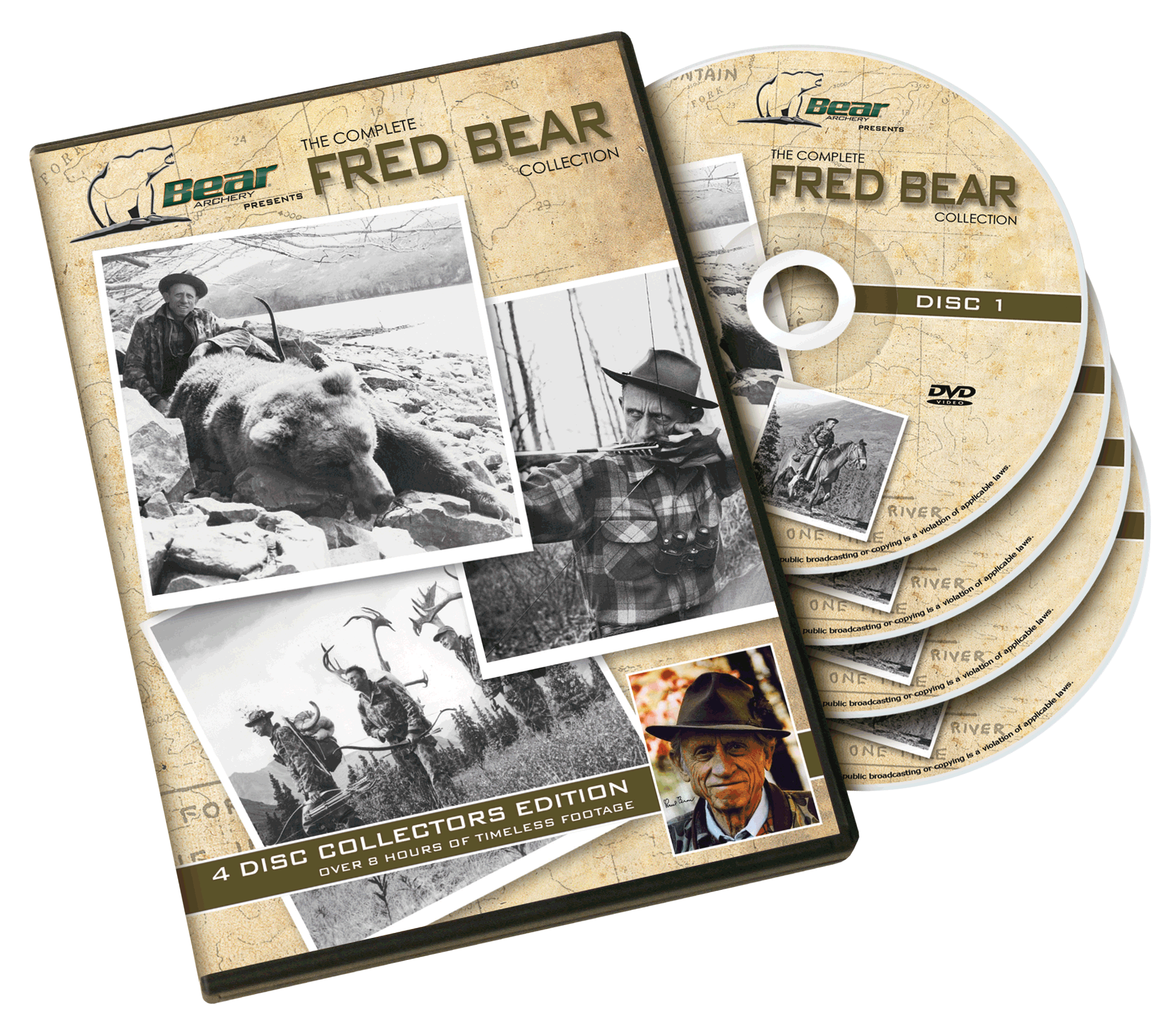 close up of Fred Bear DVD Collection