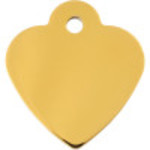 Gold Small Heart Quick-Tag