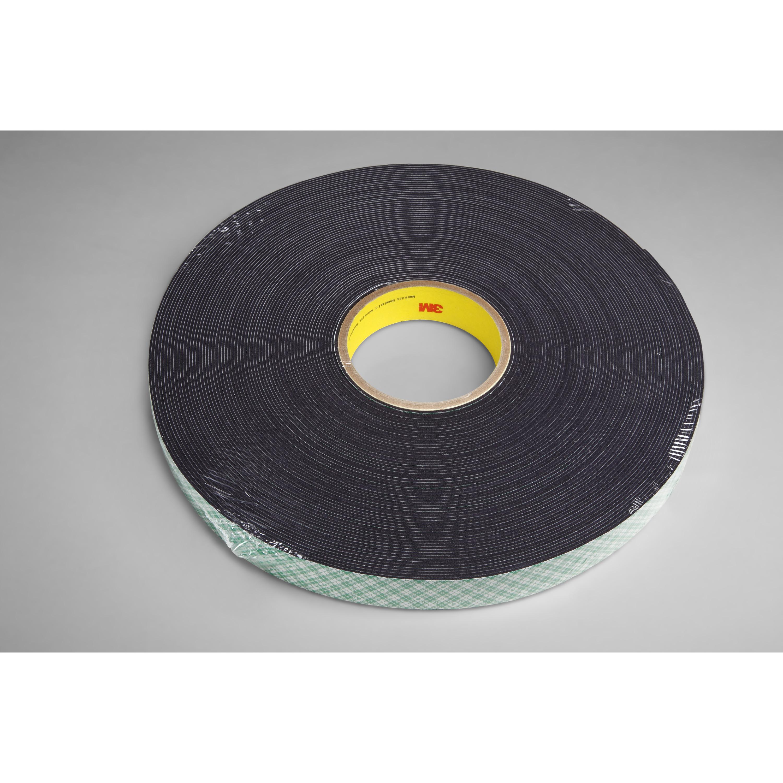 3M™ Double Coated Urethane Foam Tape 4052, Black, 3/4 in x 72 yd, 31 mil, 12 rolls per case