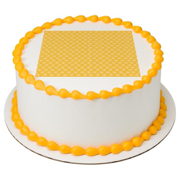 Yellow Grad Hat PhotoCake® Edible Image®