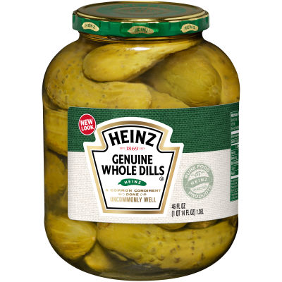 Heinz Genuine Whole Dill Pickles 46 oz Jar