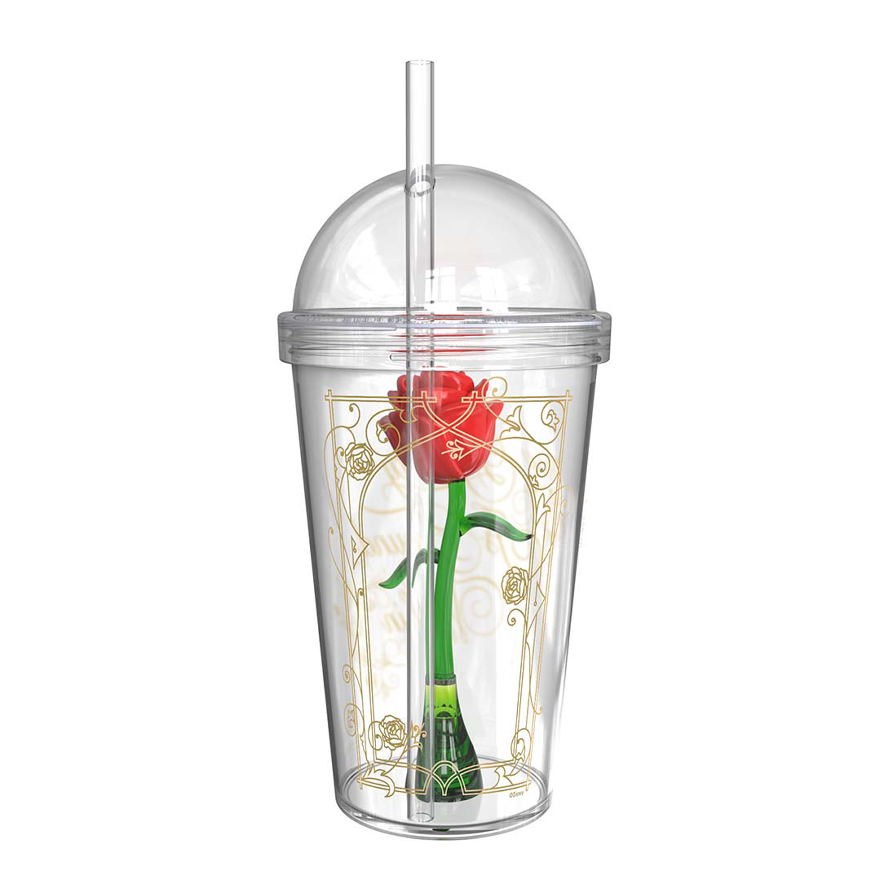 Beauty And The Beast 22 ounce Kid's Tumbler, Enchanted Rose slideshow image 6