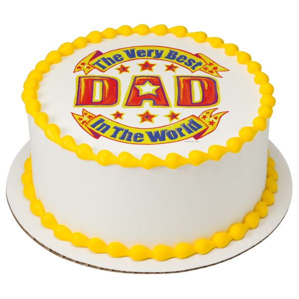 Best Dad in the World PhotoCake® Edible Image®