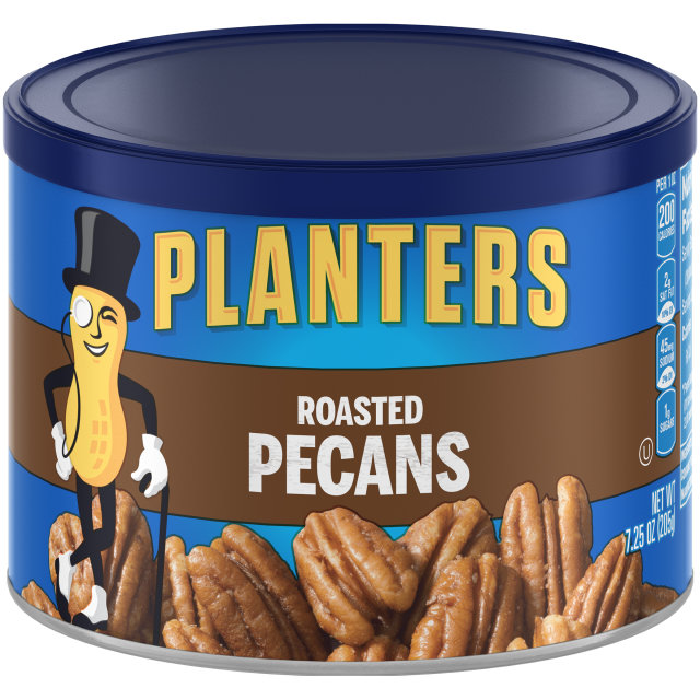 PLANTERS Roasted Pecans 7.25 oz Can image