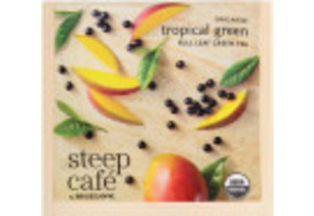 steep Café Organic Tropical Green Tea - Box of 50 pyramid tea bags