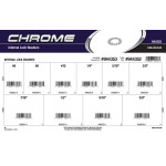 Chrome Internal Toothed Lock Washers Assortment