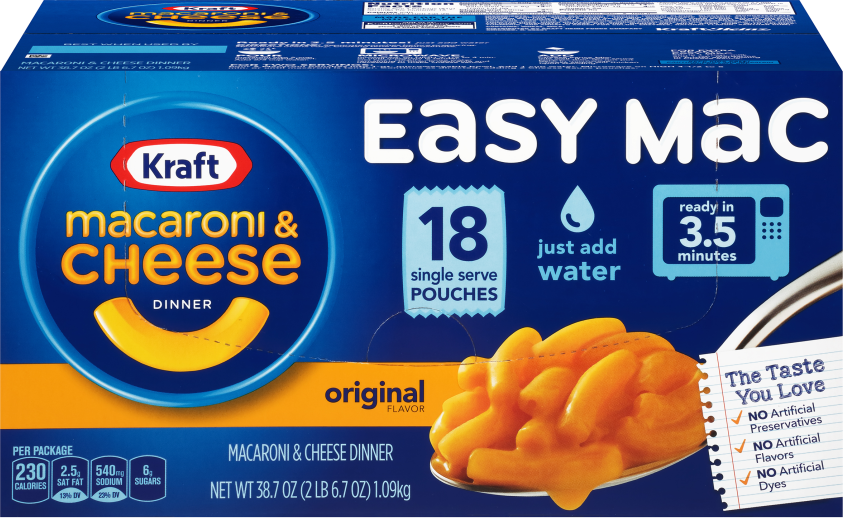 Kraft Easy Mac Original Flavor Macaroni & Cheese Dinner 38.7 oz. Box image