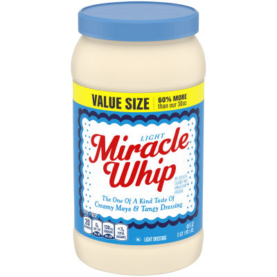 KRAFT MIRACLE WHIP Dressing Light 48 fl oz Jar