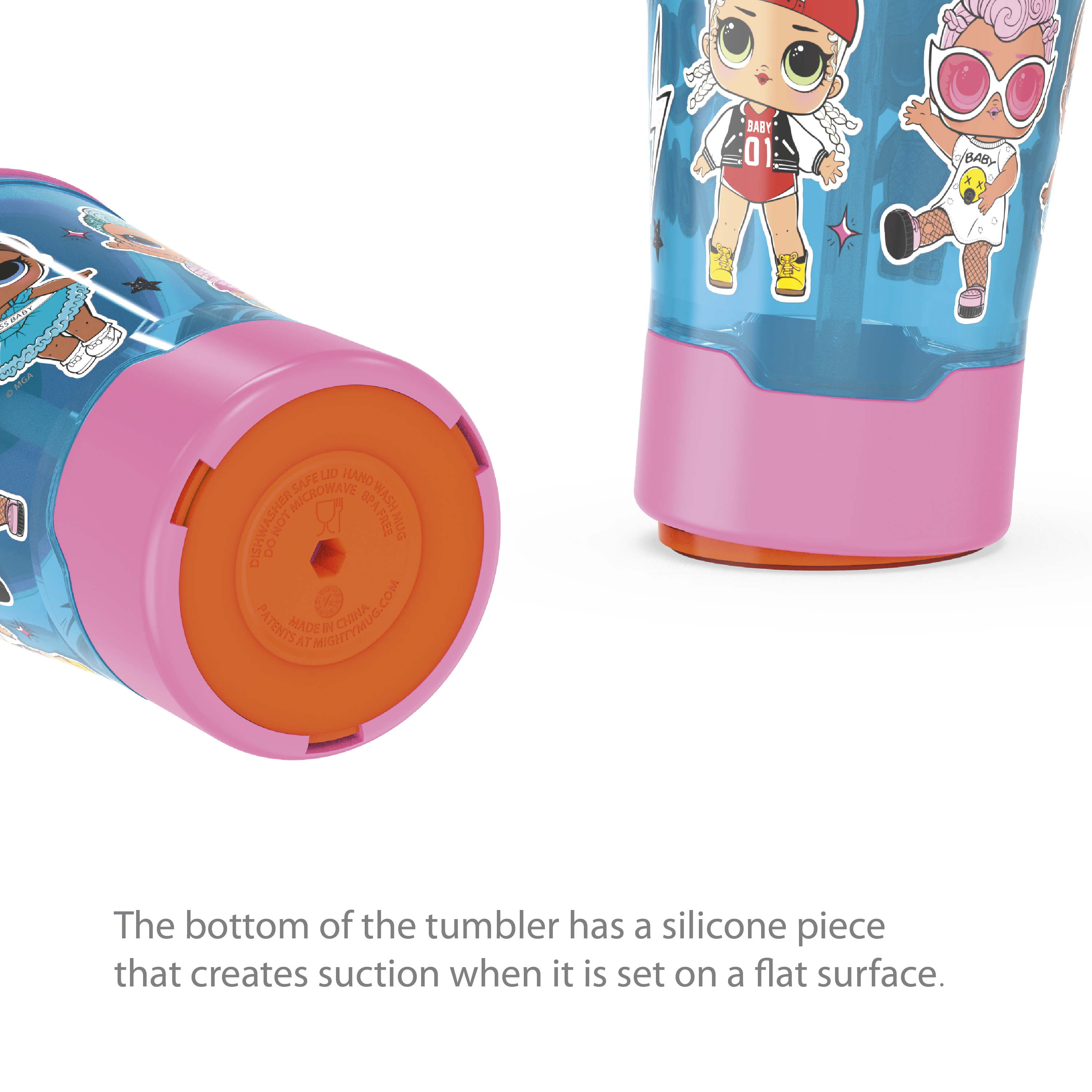 LOL Surprise 16 ounce Mighty Mug Tumbler with Straw, Babies Run the World slideshow image 7