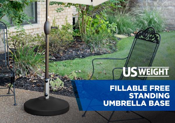 Fillable Free Standing Umbrella Base - Black 17