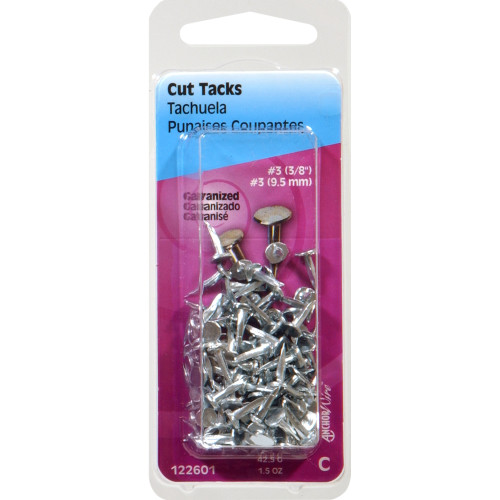 Electro-Galvanized Cut Tacks #3 x 3/8