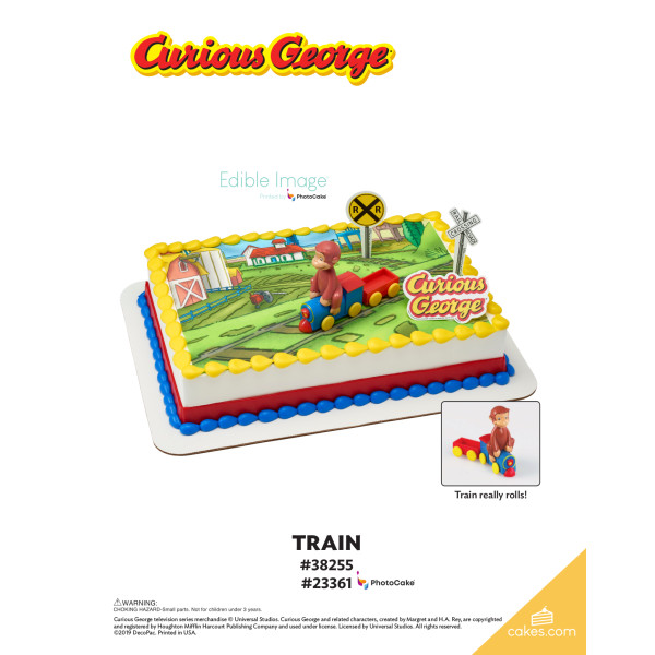 Curious George® Train DecoSet® The Magic of Cakes® Page