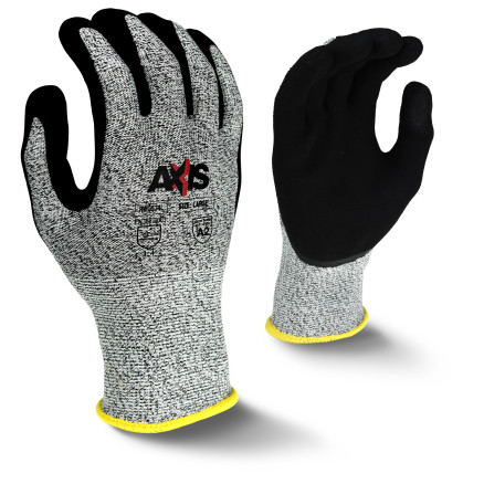Radians RWG534 AXIS™ Cut Protection Level A2 Micro Sandy Foam Nitrile Coated Glove
