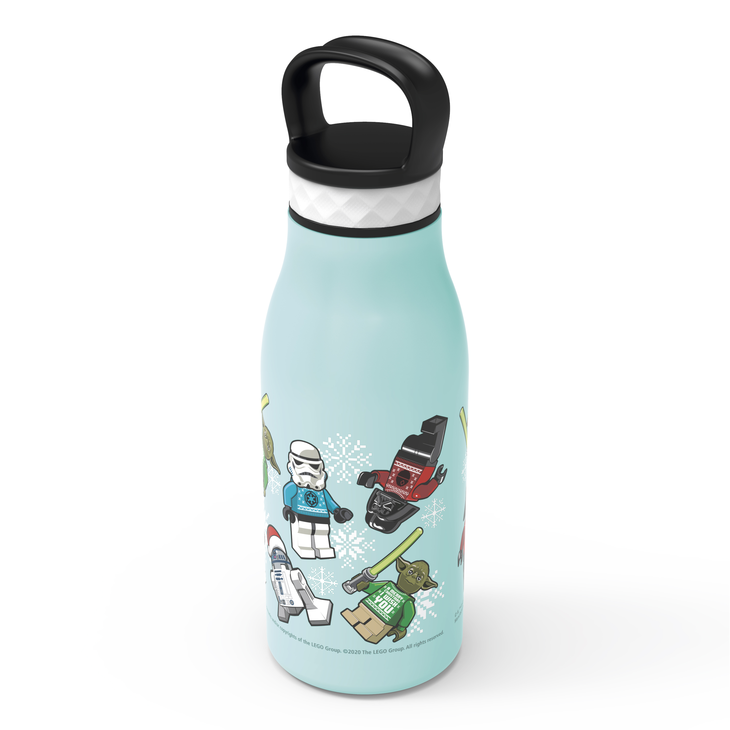 Lego Star Wars 12 ounce Stainless Steel Vacuum Insulated Water Bottle, Darth Vader, Stormtroopers and Yoda slideshow image 2
