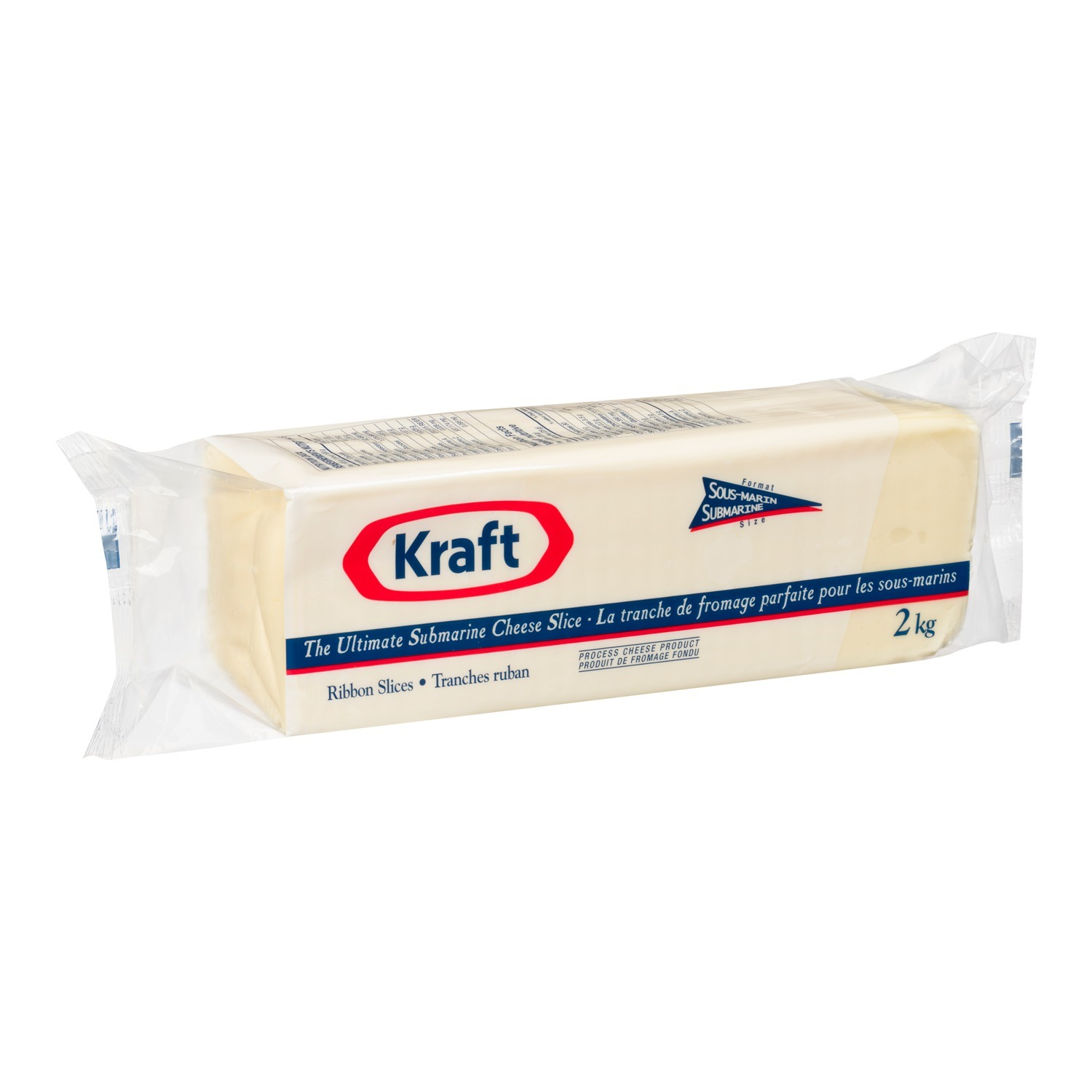 KRAFT Darifarm Submarine White Cheese-Slices 2kg 2