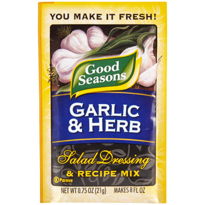 Good Seasons Garlic & Herb Salad Dressing & Recipe Mix 0.75 oz Envelope