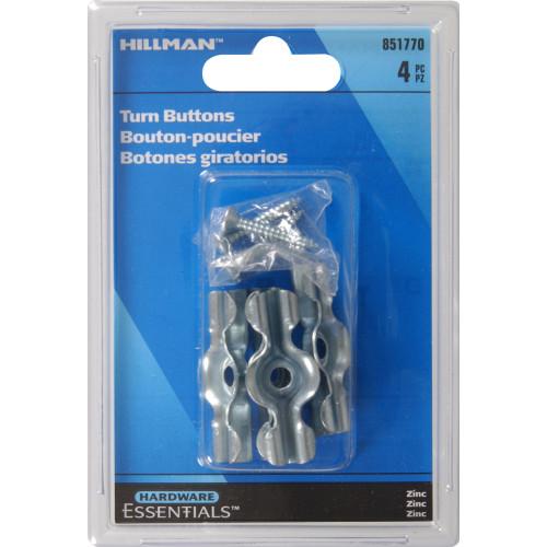 Hardware Essentials Zinc 1-3/4in Turn-buttons