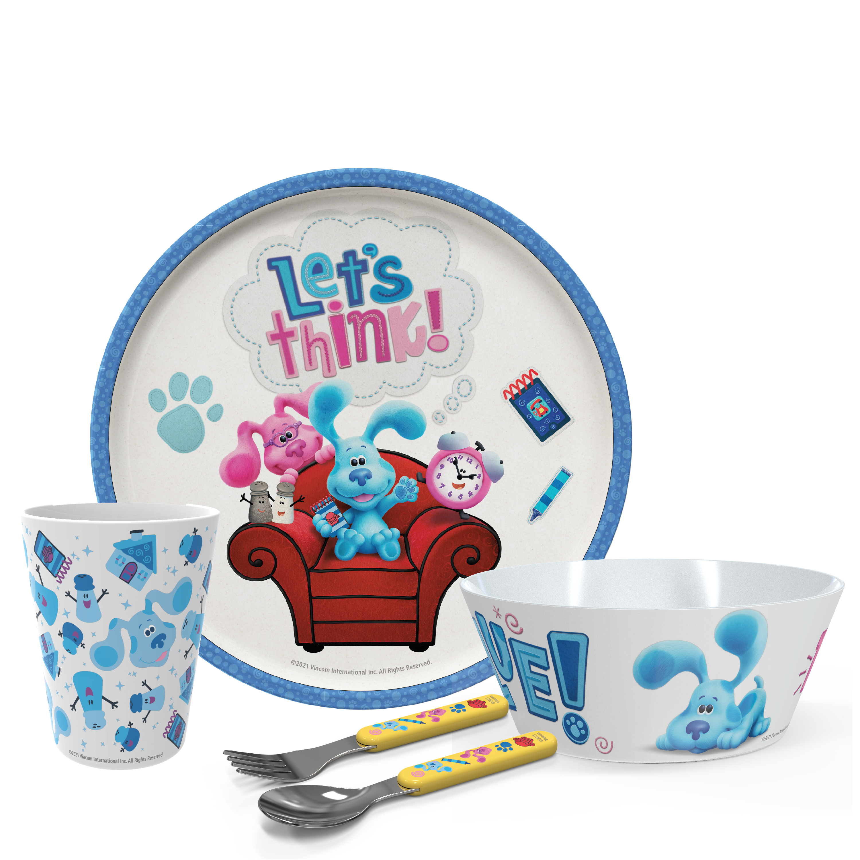 Blues Clues and You Kids Dinner Set, Blue and Friends, 5-piece set slideshow image 1