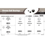 "Chrome Ball Bearings Assortment (3/8"" thru 5/8"")"