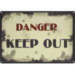 """Vintage Danger Keep Out Novelty Sign (10"""" x 14"""")"""