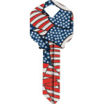 WacKey American Flag Key Blank