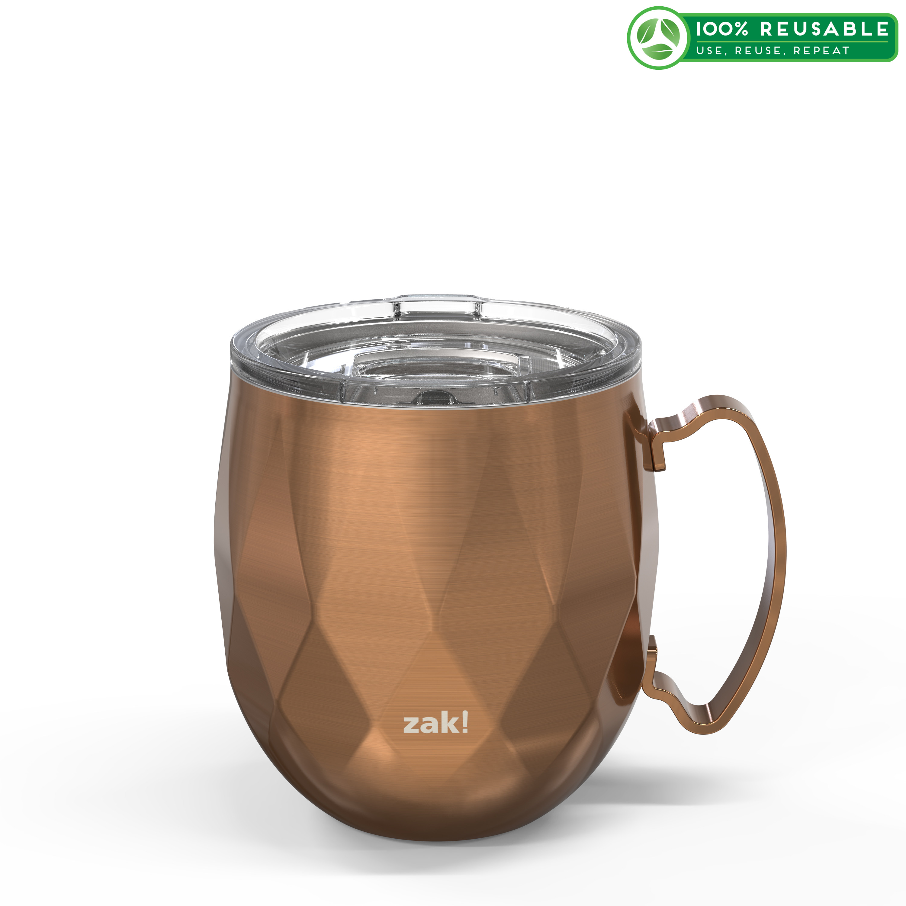 Fractal 19 ounce Vacuum Insulated Stainless Steel Tumbler, Copper slideshow image 1
