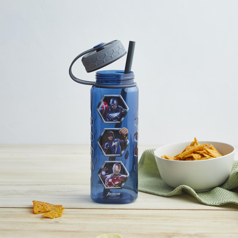 Marevel Comics 36 ounce Reusable Plastic Water Bottle, The Avengers slideshow image 7