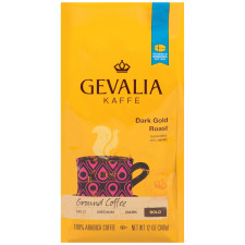 Gevalia Bold Dark Gold Roast Ground Coffee 12 oz Bag