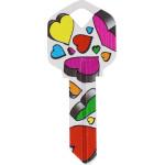 WacKey Hearts Key Blank