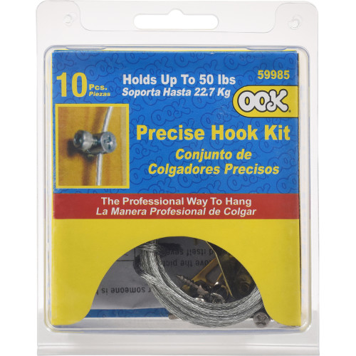 OOK Precise Picture Hanging Hook Kit 50lbs