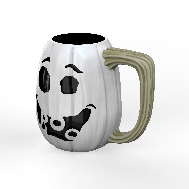 Halloween 15 ounce Coffee Mug and Spoon, Ghost Pumpkin slideshow image 3