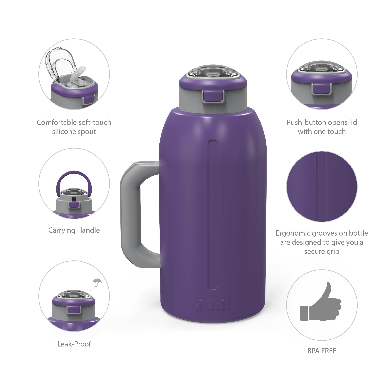 Genesis 64 ounce Stainless Steel Water Bottles, Viola slideshow image 7