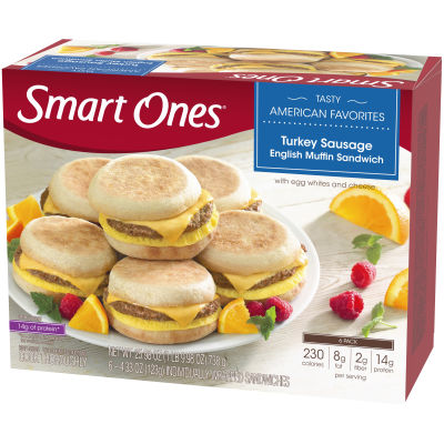 Smart Ones Tasty American Favorites Turkey Sausage English Muffin Sandwiches 6 - 4.33 oz Boxes