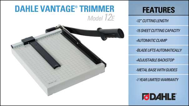 Dahle Vantage® 12e Trimmer InfoGraphic