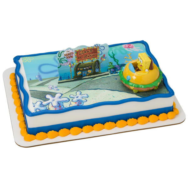 SpongeBob SquarePants™ Krabby Patty PhotoCake® Edible Image® DecoSet® Background