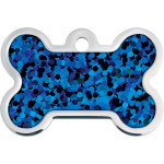 Blue Holo Insert Large Bone Quick-Tag