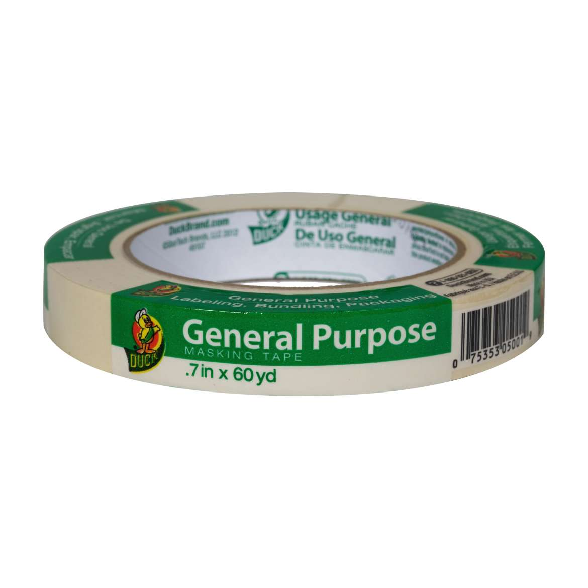 Duck® Brand General Purpose Masking Tape - Beige, .7 in. x 60 yd. Image