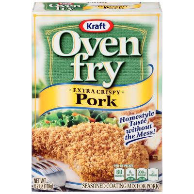 Kraft Oven Fry Extra Crispy Seasoned Coating for Pork 4.2 oz Box