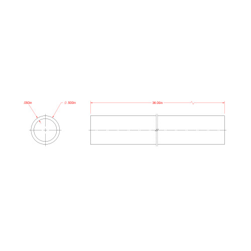 SteelWorks Weldable Steel Round Tube (1/2