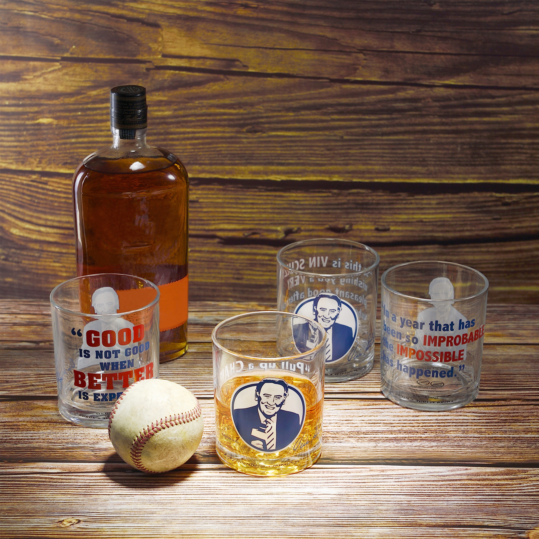 Zak Hydration 14.5 ounce Double Old Fashion Glass, Vin Scully, 4-piece set slideshow image 5