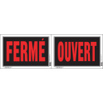"""French Open / Closed Sign (8"""" x 12"""")"""