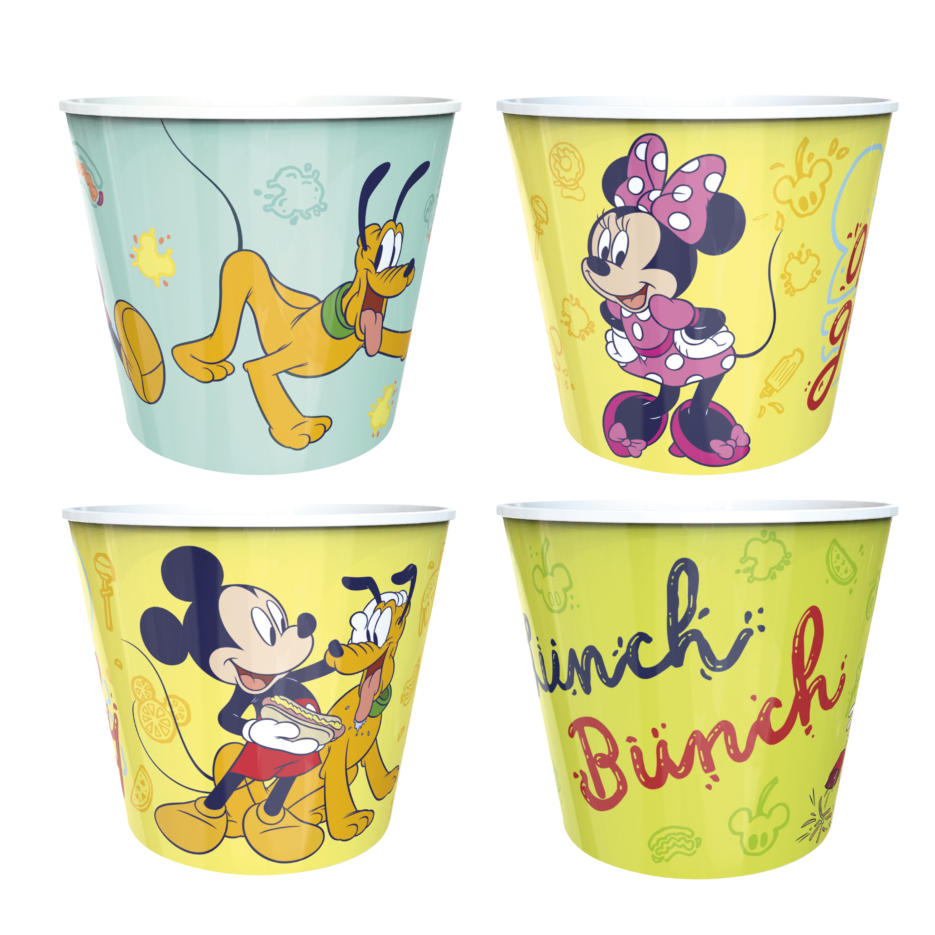 Disney Plastic Popcorn Container and Bowls, Mickey Mouse and Minnie Mouse, 5-piece set slideshow image 8